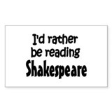Shakespeare Rectangle Sticker 10 pk)