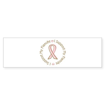 Breast Cancer Support Fiancee Bumper Sticker