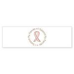 Breast Cancer Support Fiancee Sticker (Bumper 10 p