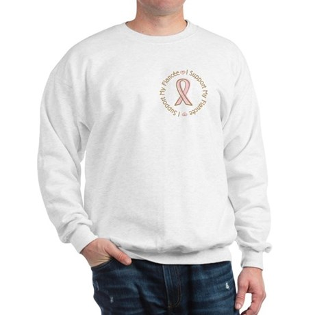 Breast Cancer Support Fiancee Sweatshirt