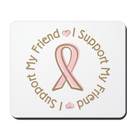 Breast Cancer Support Friend Mousepad