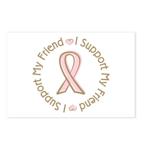 Breast Cancer Support Friend Postcards (Package of