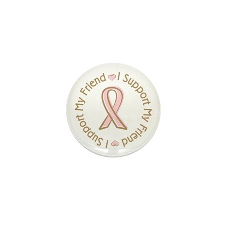 Breast Cancer Support Friend Mini Button (10 pack)
