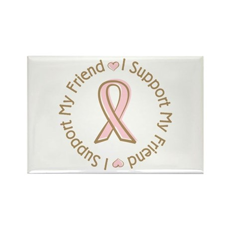 Breast Cancer Support Friend Rectangle Magnet (100