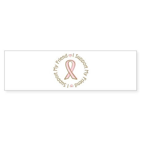 Breast Cancer Support Friend Sticker (Bumper 10 pk