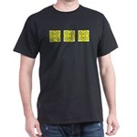 Yellow Owls Design Dark T-Shirt
