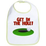 Get in the Hole! Fore! Funny Golf Baby Bib