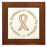 Breast Cancer Support Girlfriend Framed Tile