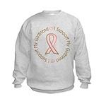 Breast Cancer Support Girlfriend Kids Sweatshirt