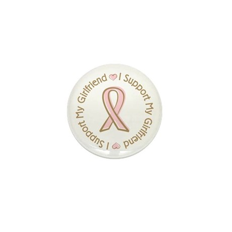Breast Cancer Support Girlfriend Mini Button (100