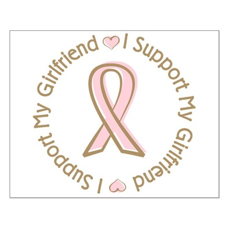 Breast Cancer Support Girlfriend Small Poster
