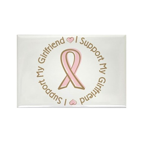 Breast Cancer Support Girlfriend Rectangle Magnet