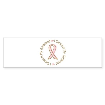 Breast Cancer Support Girlfriend Sticker (Bumper 1