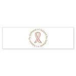 Breast Cancer Support Girlfriend Sticker (Bumper 5