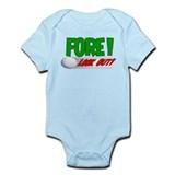 FORE! Funny Golf Infant Bodysuit