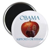 "Obama Supports Dietitians 2.25"" Magnet (10 pa"