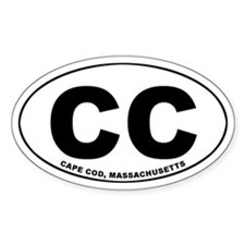 Cape Cod, MA Oval Decal