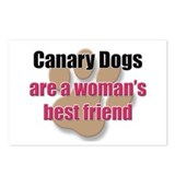 Canary Dogs woman's best friend Postcards (Package