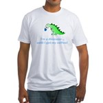 I'M A DINOSAUR WITHOUT COFFEE! Fitted T-Shirt