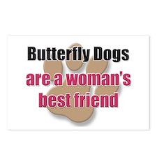 Butterfly Dogs woman's best friend Postcards (Pack