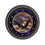 US Navy Anchor & Eagle Wall Clock