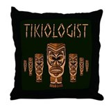 Tikiologist Dark Throw Pillow