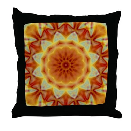 Emperor's Sunflower Throw Pillow