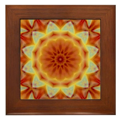 Emperor's Sunflower Framed Tile