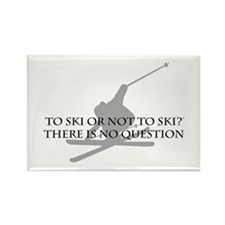 To Ski Or Not To Ski Rectangle Magnet (10 pack)
