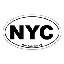 New York City (NYC) Oval Decal