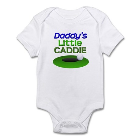 Daddy's Little Caddie Funny Golf Infant Bodysuit