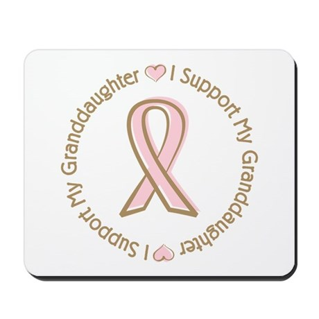 Breast Cancer Support Granddaughter Mousepad