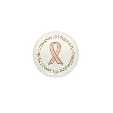Breast Cancer Support Granddaughter Mini Button (1