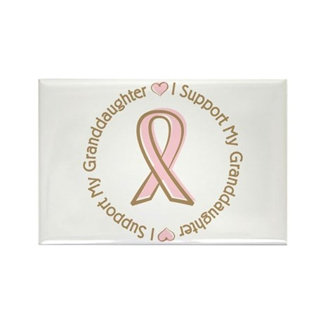Breast Cancer Support Granddaughter Rectangle Magn