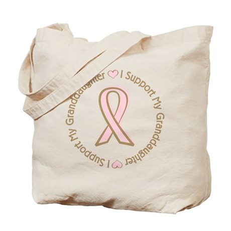 Breast Cancer Support Granddaughter Tote Bag