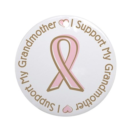 Breast Cancer Support Grandmother Ornament (Round)