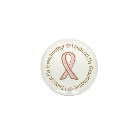 Breast Cancer Support Grandmother Mini Button (100