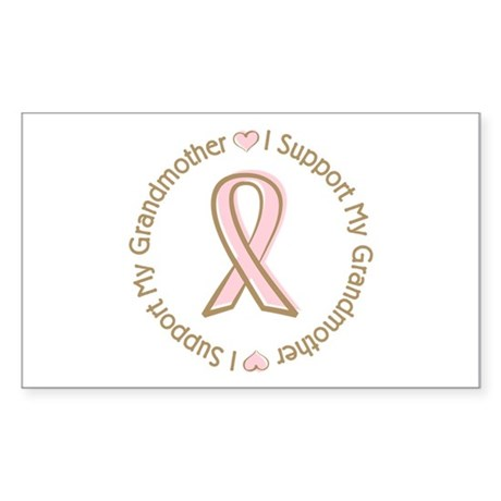 Breast Cancer Support Grandmother Sticker (Rectang