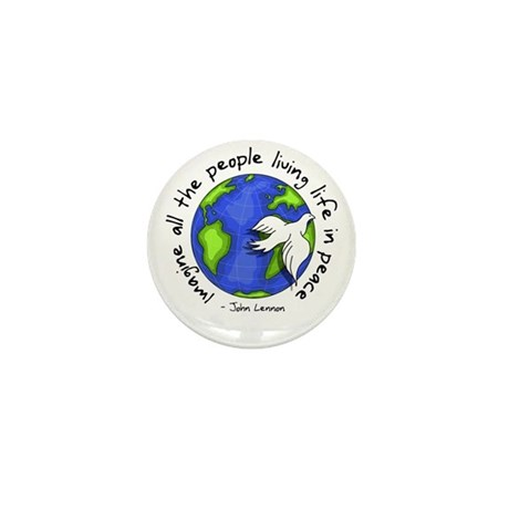 Imagine - World - Living In P Mini Button (10 pack