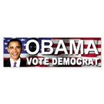 OBAMA Vote Democrat Bumper Sticker