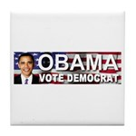 OBAMA Vote Democrat Tile Coaster