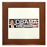 OBAMA Vote Democrat Framed Tile