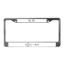 Unique Quantum physics License Plate Frame