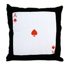 Ace Of Hearts Throw Pillow