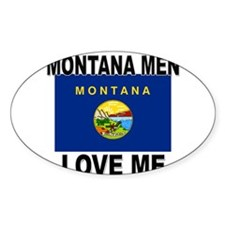 Montana Loves Me Oval Decal