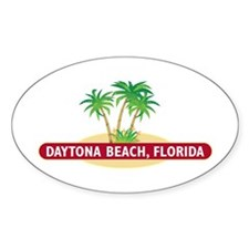 Daytona Beach Palms - Oval Decal