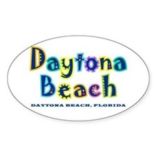 Tropical Daytona - Oval Decal