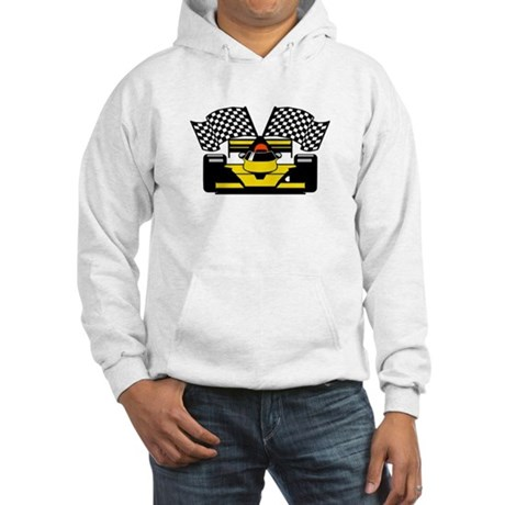 YELLOW RACE CAR Hooded Sweatshirt