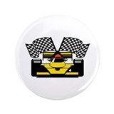 "YELLOW RACE CAR 3.5"" Button (100 pack)"
