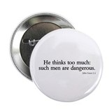 "thinks too much 2.25"" Button (100 pack)"